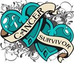 Cervical Cancer Survivor Double Hearts Shirts