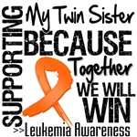 Supporting My Twin Sister Leukemia Shirts and Gift