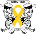 Neuroblastoma Survivor Butterfly Shirts