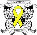 Ewing Sarcoma Survivor Butterfly Shirts