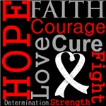 Hope Faith Courage Mesothelioma Shirts