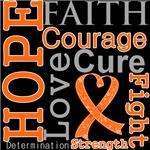 Hope Faith Courage Kidney Cancer Shirts