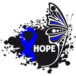 Hope Grunge Butterfly Colon Cancer Shirts