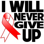 I Will Never Give Up Oral Cancer Shirts