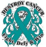 Destroy Ovarian Cancer Shirts and Gear