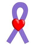 Violet Ribbon Heart