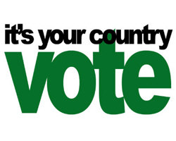 IT'S YOUR COUNTRY - VOTE