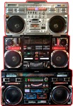 Three Huge Boomboxes