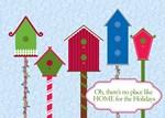 Holiday Birdhouses Card