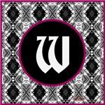 Diamond Black Fushia Monogram