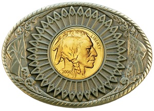 Indian gold oval 2