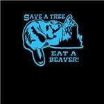 Save a tree, eat a beaver (blue)