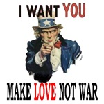 I want you to vote make love not war