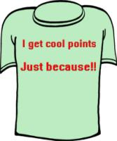 I Get Cool Points Just Because Nerd T-shirt