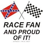 REBEL & CHECKERED FLAG<br />PROUD  RACE FAN