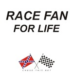 REBEL & CHECKERED FLAG<br />RACE FAN FOR LIFE