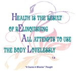 ACIM-Health is the Result