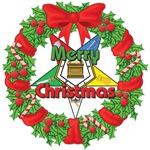 OES Christmas Wreath