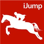 Horseback Riding iJump Silhouette for Equestrians