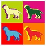 Labrador Retriever Silhouette Pop Art