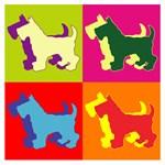 Scottish Terrier Silhouette Pop Art