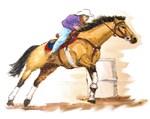 Barrel Racer, Buckskin