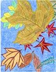 Fallen Leaves (blue)