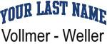 Blue Surname Design Vollmer - Weller