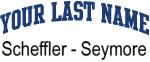 Blue Surname Design Scheffler - Seymore