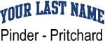 Blue Surname Design Pinder - Pritchard