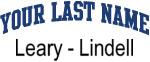 Blue Surname Design Leary - Lindell
