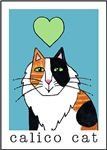 I HEART FLUFFY CALICO CATS