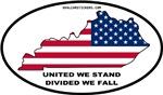 Kentucky Shape USA Flag