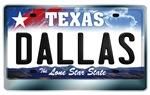 Texas License Plate [DALLAS]