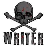 WRITER-SKULL-BLOOD SPLATTER
