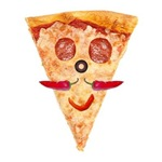 SLICE OF PIZZA WITH MUSTACHE