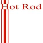 Retro Hot Rod Stripe-Red