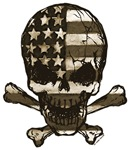 Painted Flag-Sepia skull and bones