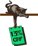 13% off