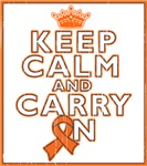 Kidney Cancer Keep Calm Carry On Shirts