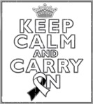 Carcinoid Cancer Keep Calm Carry On Shirts