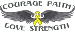 Sarcoma Courage Wings Shirts