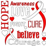 Oral Cancer Hope Words Shirts