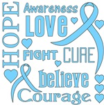 Graves Disease Hope Words Shirts