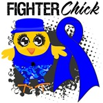 Rectal Cancer Fighter Chick Shirts
