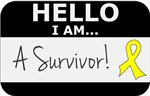 Sarcoma Cancer Hello I'm A Survivor Shirts