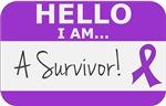 Pancreatic Cancer Hello I'm A Survivor Shirts