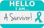 Peritoneal Cancer Hello I'm A Survivor Shirts