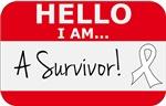 Lung Cancer Hello I'm A Survivor Shirts
