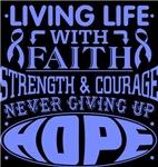 Intestinal Cancer Living Life With Faith Shirts